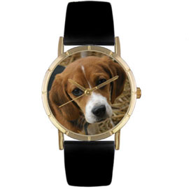Beagle Classic Print Watch unique gift item for dog lovers