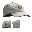 Beagle Khaki Baseball Cap with Embroidered and zippered pocket unique gift item