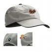 Papillon Khaki Baseball Cap with Embroidered and zippered pocket unique gift item