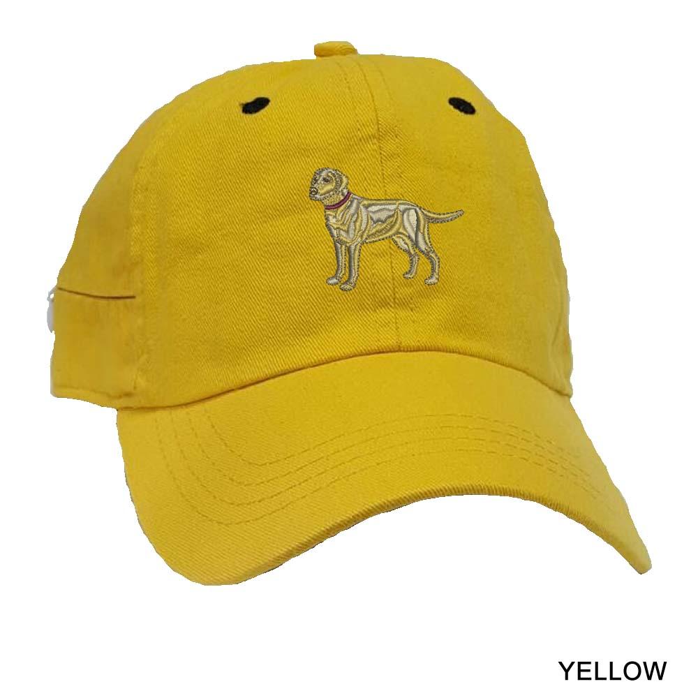 3c labrador retriever yellow baseball cap embroidered