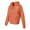 Papillon Ladies Pigment Dyed Full Zip Hooded Sweatshirt with Embroidered image unique gift item