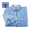 Beagle Men's Denim Shirt with Embroidered unique gift item