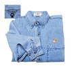 Pomeranian Men's Denim Shirt with Embroidered unique gift item