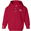 German Shepherd White Toddler Hooded Full-Zip unique gift item