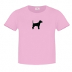 Beagle Ladies Relaxed Fit Tee Shirt with Silkscreened Silhouette unique gift item