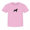 Pit Bull Ladies Relaxed Fit Tee Shirt with Silkscreened Silhouette unique gift item