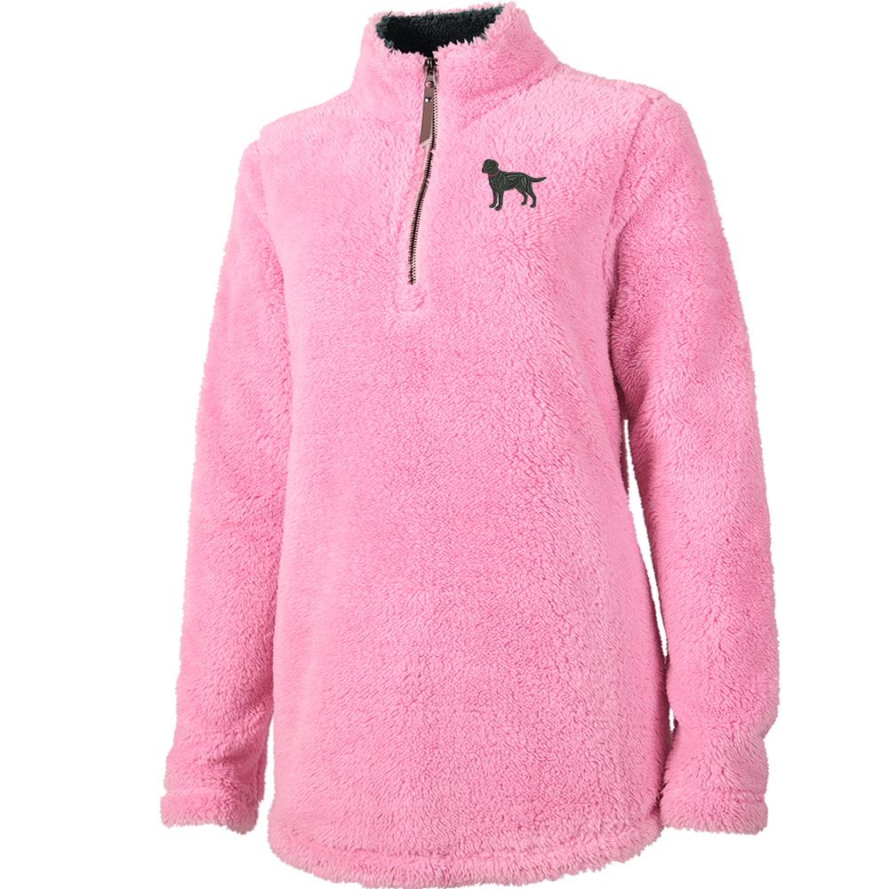 1SL-Wheaten Terrier Ladies Newport Pullover Fleece embroidered with Your  Breed