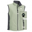 German Shepherd White Ladies' Micro Fleece Unlined Vest with Bone Zipper Pull and Embroidered image unique gift item