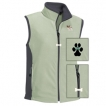 Papillon Ladies' Micro Fleece Unlined Vest with Bone Zipper Pull and Embroidered image unique gift item