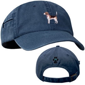 Beagle Blue Baseball Cap with Profile unique gift item for dog lovers