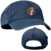 Beagle Blue Baseball Cap with Profile unique gift item