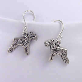 Schnauzer Sterling Silver Earrings unique gift item for dog lovers