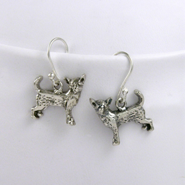 Chihuahua Sterling Silver Earrings unique gift item for dog lovers
