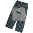 German Shepherd White Classic Mens Flannel Pant with Pockets unique gift item