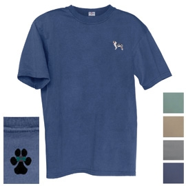 Australian shepherd Men's Garment Dyed Cotton Embroidered Tee Shirt unique gift item for dog lovers