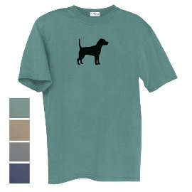 Beagle Men's Relaxed Fit Tee Shirt with Silkscreened Silhouette unique gift item for dog lovers