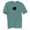 Pomeranian Men's Relaxed Fit Tee Shirt with Silkscreened Silhouette unique gift item