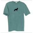 German Shepherd White Men's Relaxed Fit Tee Shirt with Silkscreened Silhouette unique gift item