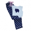 Pomeranian Ladies Polka Dot PJs unique gift item