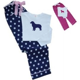 Australian shepherd Ladies Polka Dot PJs unique gift item for dog lovers