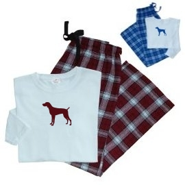 Weimaraner Ladies Flannel Pajamas unique gift item for dog lovers
