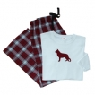 German Shepherd White Ladies Flannel Pajamas unique gift item