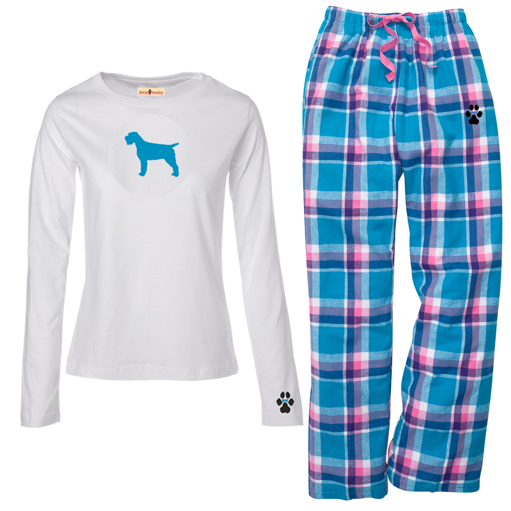 1WL-Wirehaired Pointing Griffon Youth and Ladies Flannel and Cotton ...