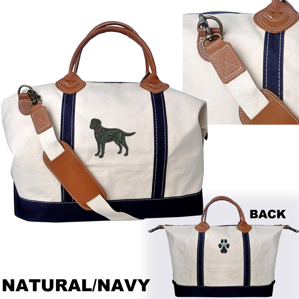634306d34353 4AL-Great Pyrenees Heavy Canvas Overnight Bag with Leather ...