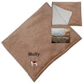 Beagle Micro Mink Sherpa Throw unique gift item for dog lovers