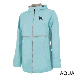 2PL-Women's New Englander Rain Jacket embroidered with your breed.