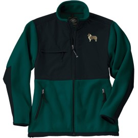 1TM-Sheltie Youth  Evolux™ Fleece Jacket with Embroidered image & Bone Zipper Pull.