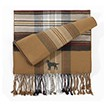 6AM-Men's Plaid Bamboo Muffler Scarves with Embroidered profile.