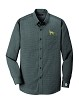 1SM-Men's Nailhead Non-Iron Button-Down Shirt Embroidered with profile.