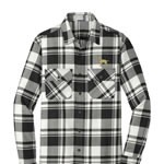 1SN-Men's Plaid Flannel Shirt embroidered with Your Breed