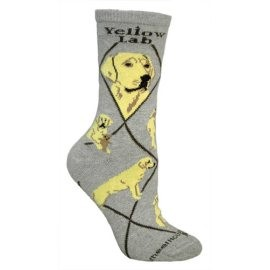 4AL-Labrador Yellow Cotton Ladies Socks