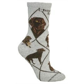 4AL-Labrador Chocolate Cotton Ladies Socks