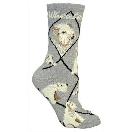 4AL-Wheaten Terrier Cotton Ladies Socks