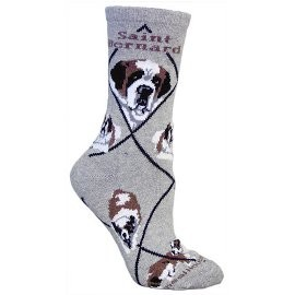 4AL-St. Bernard Cotton Ladies Socks