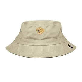 3C-Golden Retriever Bucket with embroidered face