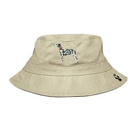 3C-Dalmatian Bucket Hat with side zipper with embroidered full profile