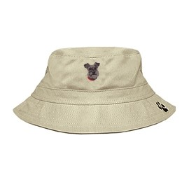 3C-Schnauzer Bucket with embroidered face