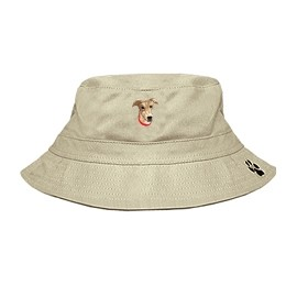 3C-Greyhound Fawn Bucket with embroidered face
