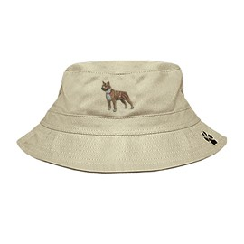 3C-Pit Bull Bucket Hat with side zipper with embroidered full profile.