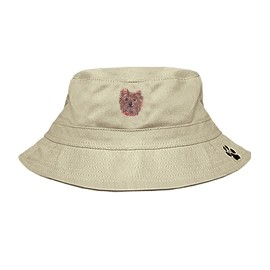 3C-Yorkshire Terrier Bucket with embroidered face.