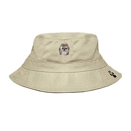 3C-Shih-tzu Bucket with embroidered face