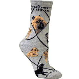 4AL-Brussels Griffon Cotton Ladies Socks