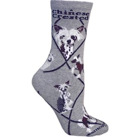 4AL-Chinese Crested Cotton Ladies Socks