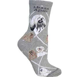 4AL-Lhasa Apso Cotton Ladies Socks