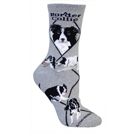 4AL-Border Collie Cotton Ladies Socks