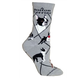 4AL-Boston Terrier Cotton Ladies Socks